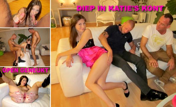 Bikkelhard anaaltrio met toeriste Katie
