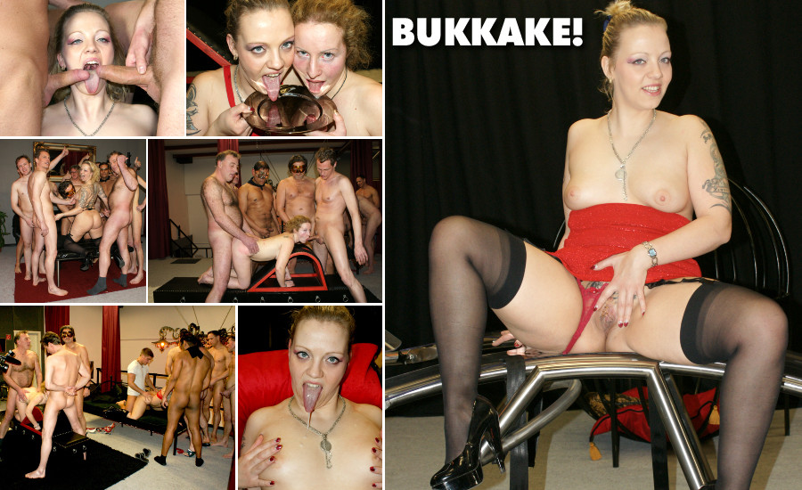 Bukkake party at club girl gets a load of sperm spoofed - 2 part 8