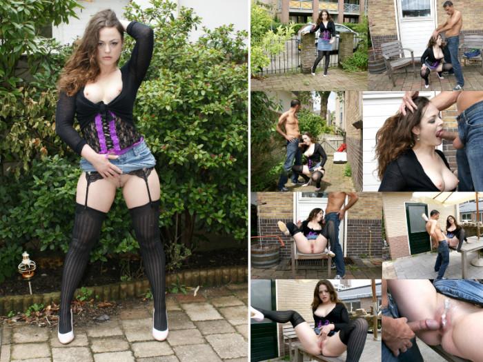 Film Leona's (22) neukt in de achtertuin van haar ouders
