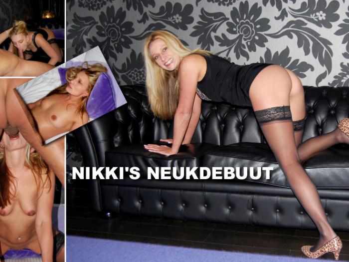 Film Geile Nikki (30) voor het eerst voor de camera geneukt