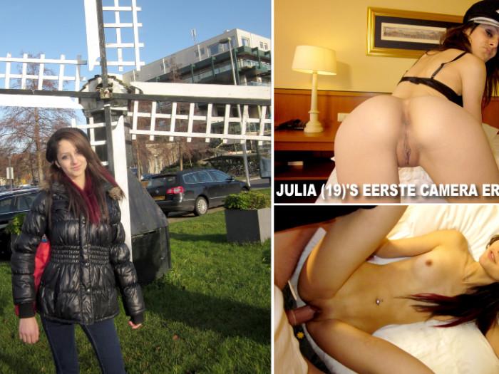 Film Julia (19) voor het eerst uit de kleren