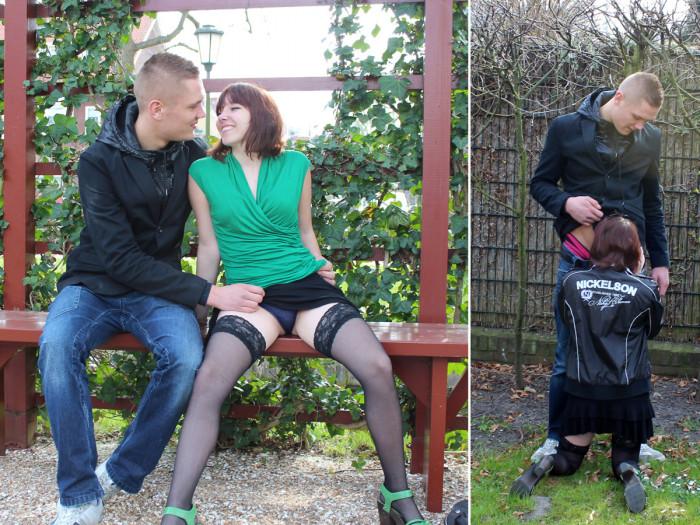 Film Hemelse Janine pijpt in het park