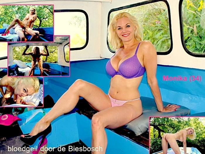Film BigTits Monika (34) wil naakt neuken in de natuur