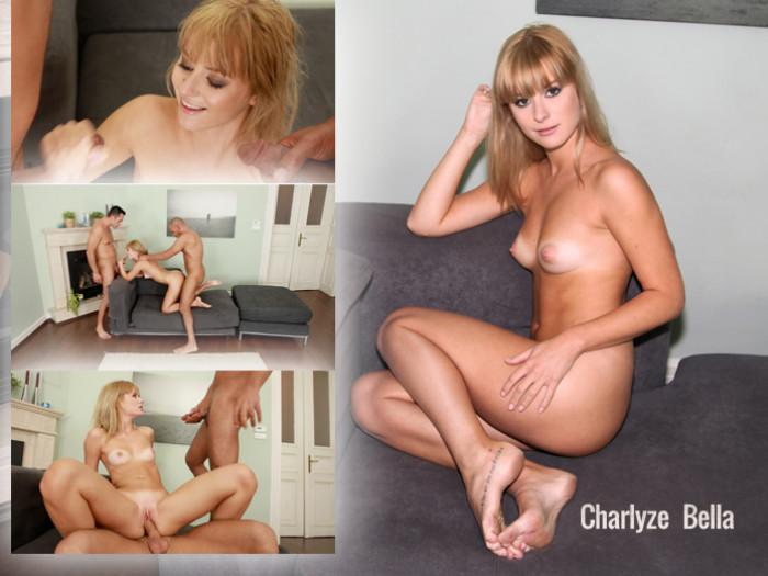 Film Diego scoort een trio met blonde Charlyze en haar vriend
