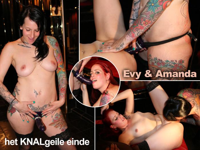 Film Kinky slet Evy krijgt de vuist van Amanda naar binnen