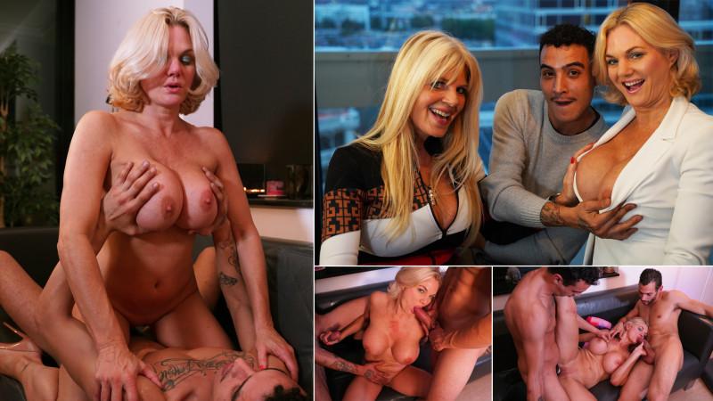 Film Milf Monika toont haar nieuwe gigantische borsten in heet trio