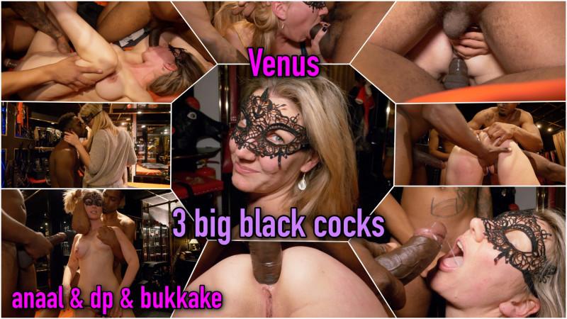Film Spotlight: Mooie blonde Venus bedolven onder 3 big black cocks