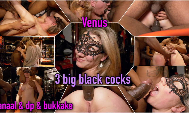 Film Venus bedolven onder 3 big black cocks