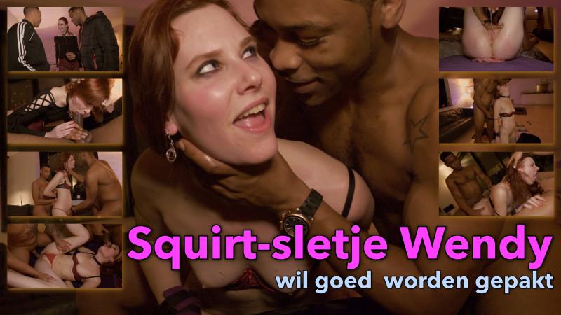 Film Amateur squirt-sletje Wendy wil goed worden gepakt