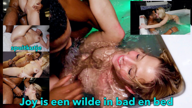 Film Wild blond sexbeest Joy kronkelt, kreunt en spuit